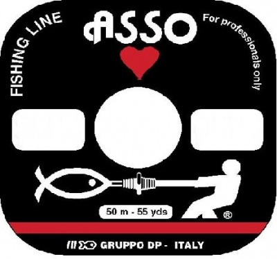 Asso Fluorocarbon 100% Fishing Line 50 mt