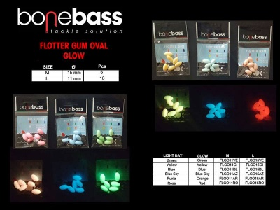 BONE BASS FLOTTER GUM OVALI 15MM