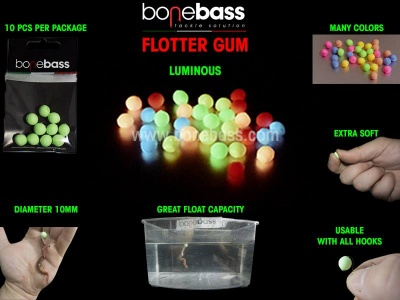 BONE BASS FLOTTER GUM TONDI 8MM