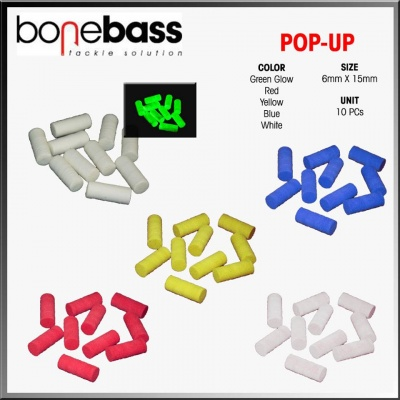 BONE BASS POP-UP EVA 10 PZ (16 X 6MM)