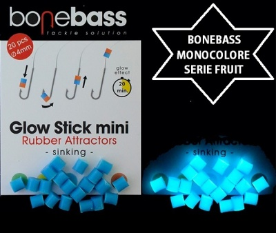 BONEBASS ATTRATTORI GLOW STICK FRUIT SERIES 4X5 MM BLU FLUO