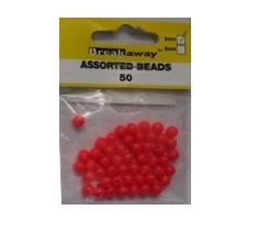BREAKAWAY 5MM BEADS 50PZ PALLINE SALVANODO ROSSO