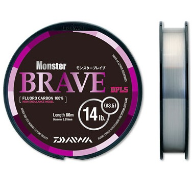 DAIWA BRAVE MONSTER FLUOROCARBON 100% MADE IN JAPAN 80 MT
