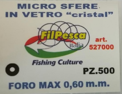 FILPESCA MICROSFERE PERLINE IN VETRO PZ500 0.60MM