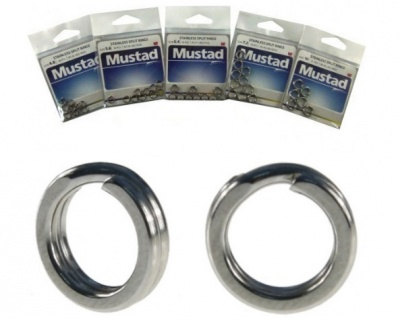 MUSTAD STAINLESS SPLIT RINGS RING ACCIAIO