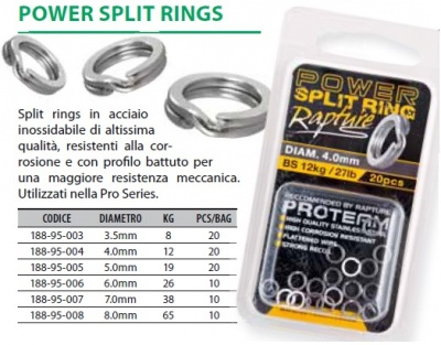 RAPTURE SPLIT RING POWER VARIE MISURE