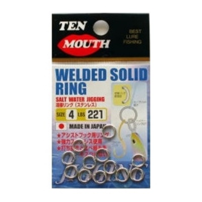 TEN MOUNTH SOLID RING MADE IN JAPAN SIZE 4 LBS 221